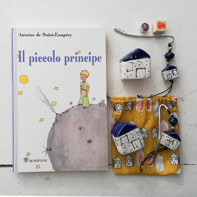 Casetta Piccolo Principe dal tetto blu cosmo
