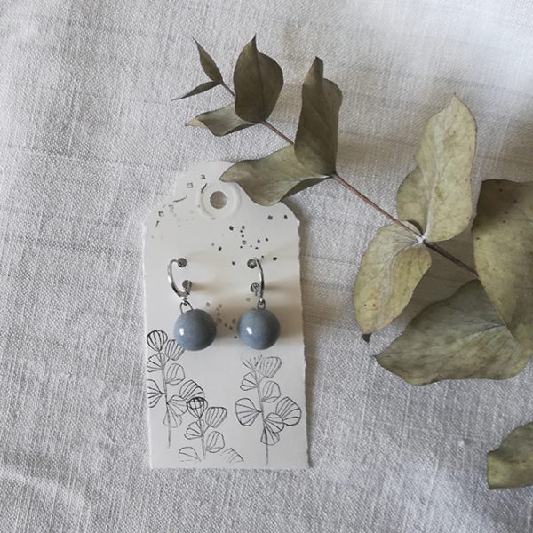 orecchini pallina grigio scuro