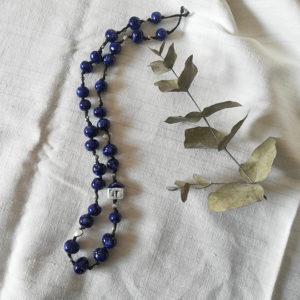 collana microcasetta blu cosmo