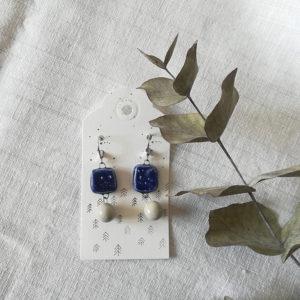 orecchini blu cosmo grigio