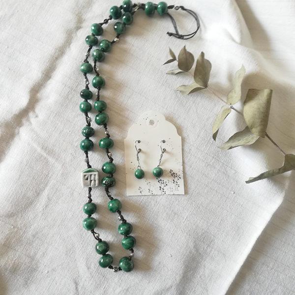 collana microcasetta verde rugiada