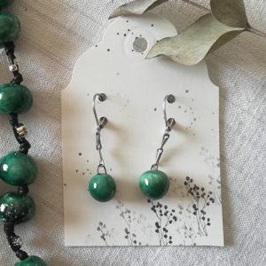orecchini verde rugiada
